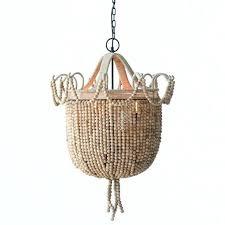 wood bead chandelier 3 light metal and wood bead chandelier elena wood bead chandelier pottery barn