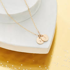solid gold initial necklace single initial necklace 18ct gold personalised initial necklace