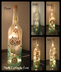 Making Wine Bottle Lights Owl Wine Bottle Night Light Owl Bottle And Wine
