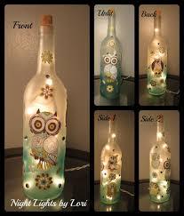 Making Wine Bottle Lights Owl Wine Bottle Night Light Owl Bottle And Wine