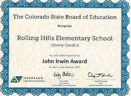 Achievement Awards For Elementary Students Cherry Creek Schools Honored For Academic Growth And Achievement