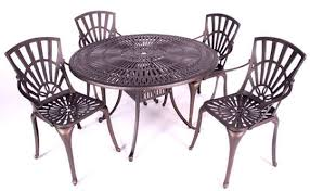 stamford aluminium 4 seater garden furniture set black garden furniture