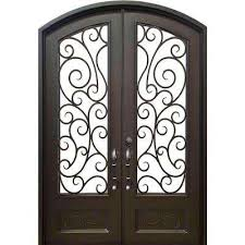 72 in x96 in lauderdale eyebrow right hand classic painted wrought iron double