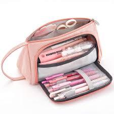 <b>Litthing New</b> Super <b>Large</b> Capacity Makeup Bag School Pen Case ...