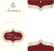 Invitation Card Template Corporate Design Indian Wedding