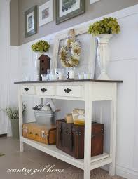 table for entryway. Diy Painted Foyer Table Entry Decor Or On Hall Ideas House Of Turquoise Foy For Entryway .