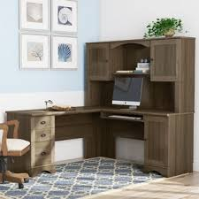 Image Workstation Pinellas Lshape Computer Desk With Hutch By Beachcrest Home Style Our Home Small Desks Youll Love Wayfair