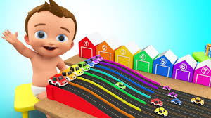 Children Education Cartoons Learn Colors For Children With Baby Play Cartoon Cars Gifts Toy Set