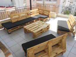 Adorable Pallet Furniture for Exclusive Interior Space in Warm Nuance