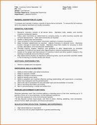 Inventory Control Job Description Resumes Inventory Control Resume