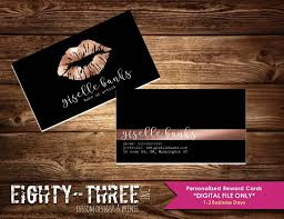 black lips makeup artist business card