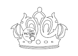 Small Picture Trend Crown Coloring Page 30 In Line Drawings with Crown Coloring