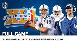 Colts First Ring - Super Peyton Youtube Game Bowl Manning's Bears Full Vs Nfl Xli
