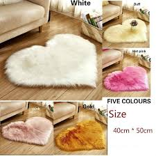 product details of bedroom living room floor long rug cushions heart shape soft comfortable faux fur rugs window door wool mat gy carpet for home