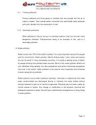 water air and noise pollution there are two types of pollutants page 1 2