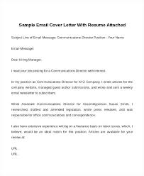 Email Cover Letter Subject Line Email Cover Letters Email Cover