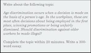 essay should discrimination against older workers be made illegal  essay should discrimination against older workers be made illegal