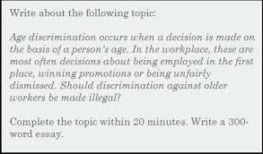 essay should discrimination against older workers be made illegal  essay should discrimination against older workers be made illegal