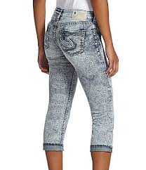 Silver Jeans Co Size Chart Silver Jeans Co Aiko Printed Capri Jeans Dillards My