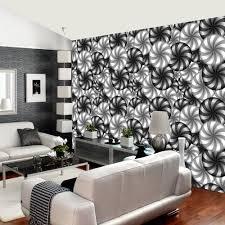 rainbow circle pattern wall mural 3d effect black white geometric wall décor r229