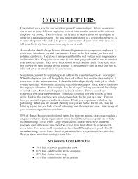 Human Resource Cover Letter Sample Image Collections Cover