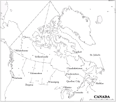 cancitieslabeled canada printable map on printable map of the united states and estern canada