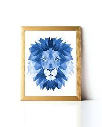 lion wall art polygon lion wall art printable geometric lion print wall art poster digital lion wall art