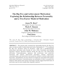 Pdf Personality And Learning Motivation