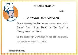 Cooking Certificate Template Adorable Hotel Cook Experience Certificate Sample Cook Certificate