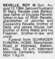 OBIT - Revelle, Roy W. - Newspapers.com