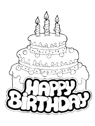 Birthday Cake Colouring Full Size Color It Birthday Cake Colouring