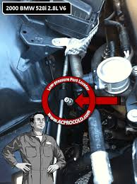 Acprocold Com Chart 2000 Bmw 528i Low Side Port For A C Recharge Acprocold
