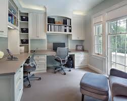 double office desk. Creative Decoration Built In Home Office Designs Double Desk Photo