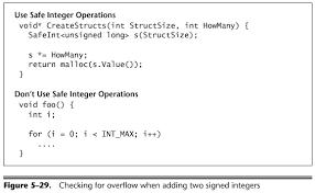 Integers Examples Integer Security