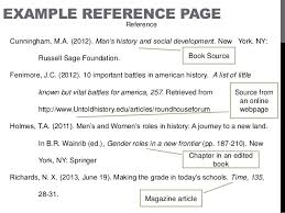 Apa Style Reference Page Writing Reference Page Using Apa Style Lessons Tes Teach