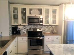 white shaker kitchen cabinets with quartz cupboard doors