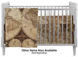 antique world map crib profile sold seperately