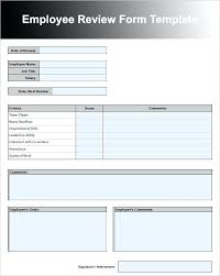 Employee Performance Review Templates Job Form Post