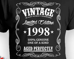 21st birthday shirt for him bday gift idea for men 21st bday t shirt birthday gift custom shirt vine born in 1998 aged perfectly mens tee