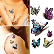 Lovely Decal Waterproof Temporary Tattoo Sticker Colorful Butterfly Fake Tattoos Cheap But Quality Goods
