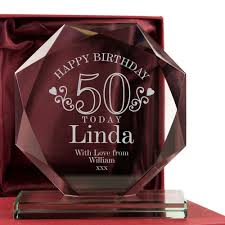 end 50th birthday gl award for her 50 glware gift ideas female gifts
