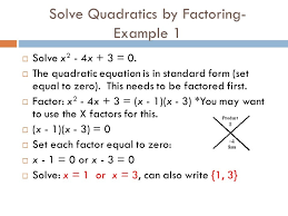 solve quadratic equations factoring slide 5 pics simple quadratics