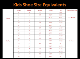 Kids And Girls Shoes Kids Shoe Size Based On Age