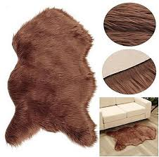 universal 182841901824 thick chocolate brown sheepskin rug real gy soft wool