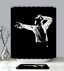 Black And White Michael Jackson Shower Curtain - HXTC0377 on Storenvy