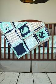 Best 25+ Nautical crib bedding ideas on Pinterest | Fitted sheets ... & Nautical Crib Bedding - Boats, Whales & Anchors - Aqua, Navy, and Gray Adamdwight.com