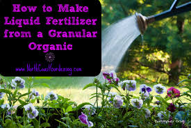 how to make liquid fertilizer from a