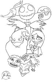 Nightmare Before Christmas Coloring Pages At Getdrawingscom Free
