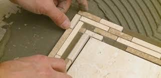 floor tile borders. Laying A Mosaic Tile Border On Bathroom Floor. Floor Borders R