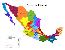 a map of mexico states  lapiccolaitaliainfo
